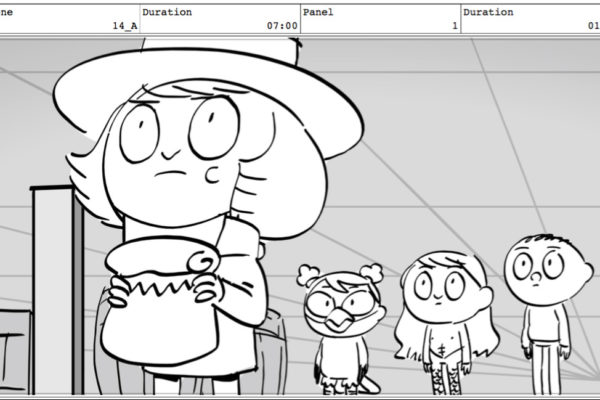How about a Costume Quest storyboard drawing by Char? Well, here you go. #COQU115