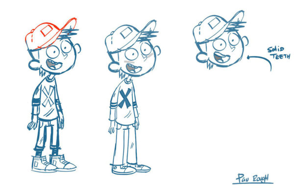 "Shellie Kvilvang's roughs for Pau, the star of ""Thrashin' ,"" which is shaping up…"
