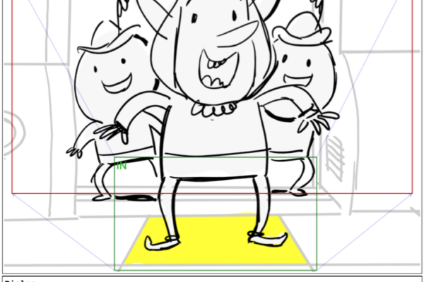 Spankus joy!Presenting a panel from David Blustein's storyboard of the newest Bravest Warriors episode,…