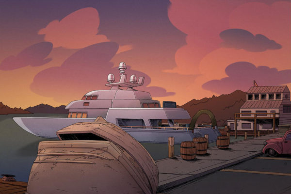 With Leonard Hung designing and Hertz Alegrio coloring, here's a sunsetian Costume Quest background…