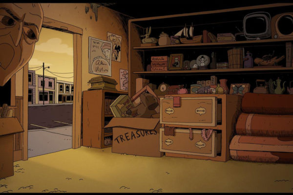 It's #junkshopwednesday, so here's a Costume Quest background of doorless Norm's.Design by Julian de…