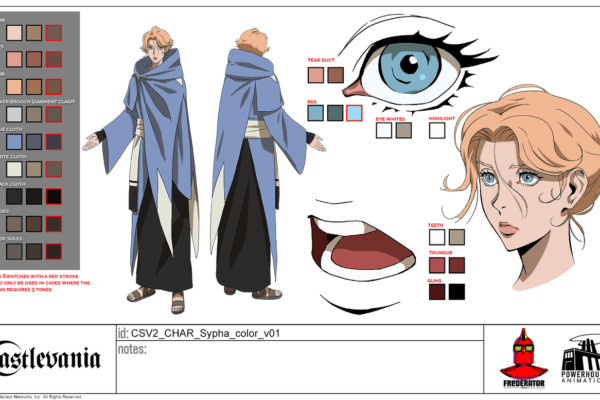 Cosplaying Castlevania's Sypha down at San Diego Comic-Con this week? We've got you colored