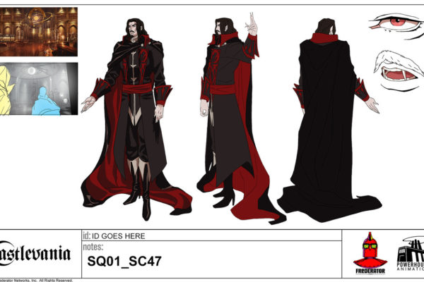 Dracula Model SheetLet's hear it for Castlevania Season One character designers Sam Deats, Sylvain…