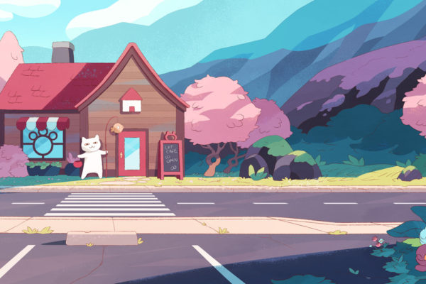 Each background for Bee and PuppyCat: Lazy in Space is prettier than the one…