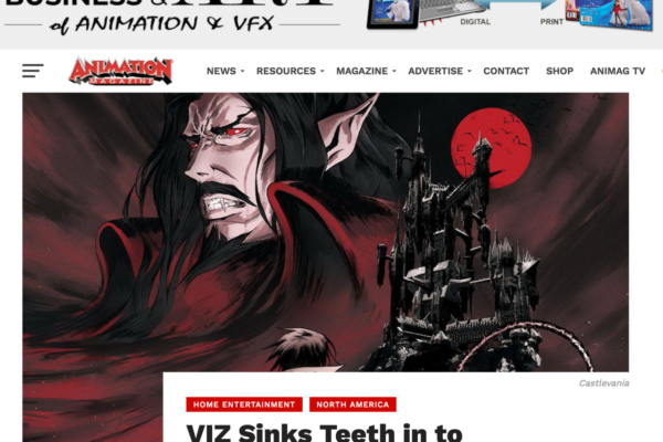 wowunlimited: VIZ Sinks Teeth in to 'Castlevania' Blu-Ray in December By Ramin ZahedAnimation Magazine,…