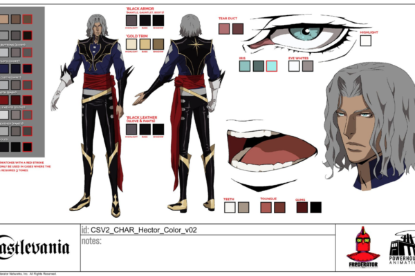 Castlevania director Sam Deats was kind enough to post this Hector model sheet over…