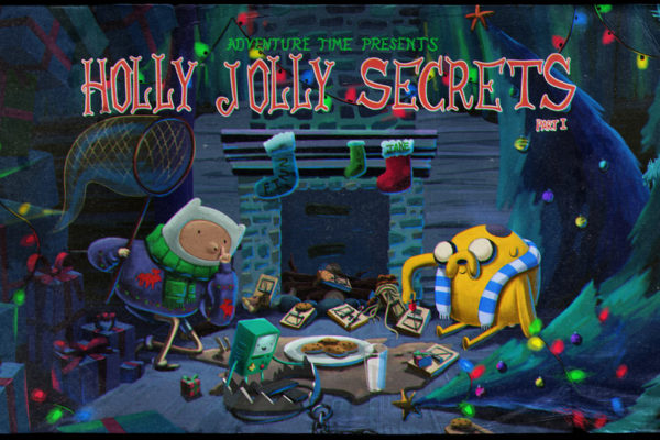 adventuretime: BMO sets a bear trap for Santa? Title card design by Andy Ristaino,…