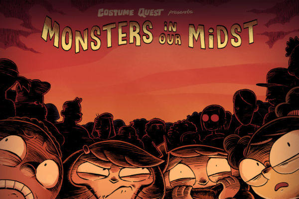 """Monsters in Our Midst,"" Episode COQU102 of Costume Quest, based on the game from…"