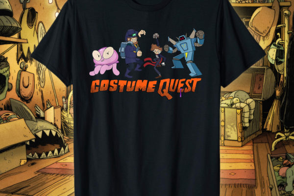 We've got official Costume Quest merchandise!, kicking off with a T-shirt that's the most…