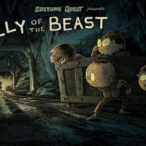 """Belly of the Beast,"" Episode COQU104 of Costume Quest, based on the game from…"
