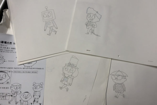 One of the added benefits of producing cartoons with pencil on paper is when…