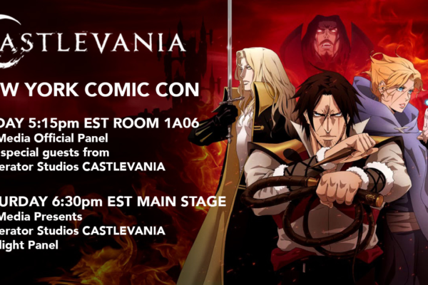 Castlevania is at New York Comic Con today and tomorrow! ⠀⠀⠀⠀⠀⠀⠀⠀⠀Today Friday Oct 4 5:15pm…